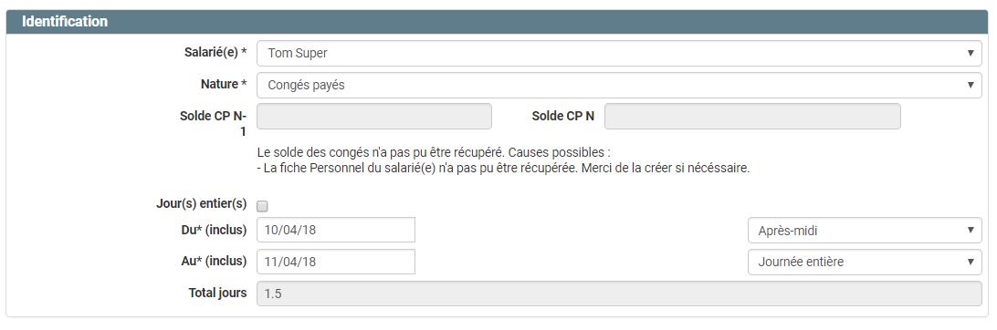 Demande De Congés Comptacom Documentation Utilisateur
